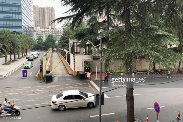 The U.S. Consulate General Chengdu stands in Chengdu, China, on Thursday, July 23, 2020. China will move to shutter the U.S. Consulate in the...