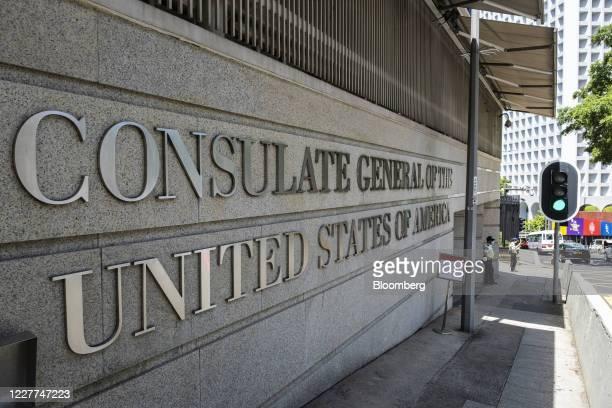 The U.S. Consulate General Hong Kong & Macau stands in Hong Kong, China, on Thursday, July 23, 2020. Global Times Editor-in-ChiefHu Xijinsaid...