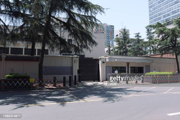 The US Consulate General in Chengdu is seen on July 27, 2020 in Chengdu, Sichuan Province of China.