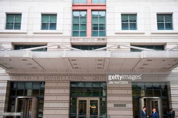The US Courthouse where a pretrial hearing for former Trump campaign manager Paul Manafort is being held in Washington DC September 14 2018 Paul...