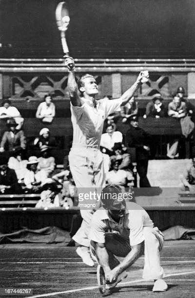 The US Davis Cup double Stoefen Lester and George Lott in the match against Australia at the Centre Court at Wimbledon 1934 Photograph Das...