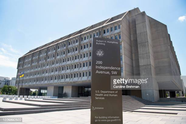The U.S. Department of Health and Human Services building is pictured in Washington on Monday, July 13, 2020.