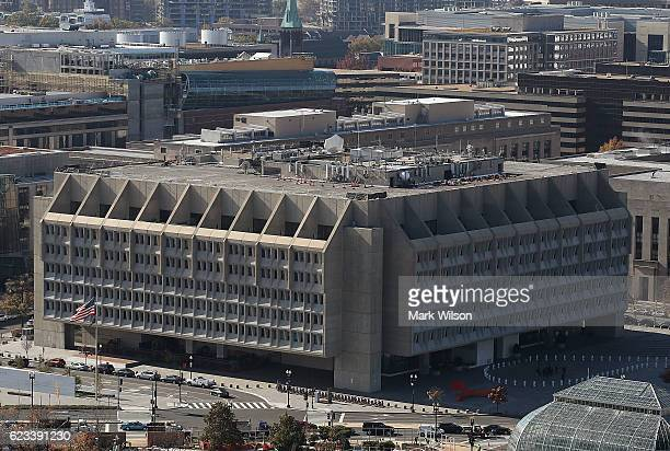 The U.S. Department of Health and Human Services, Hubert H. Humphrey Building, can be seen from the recently restored US Capitol dome, November 15,...