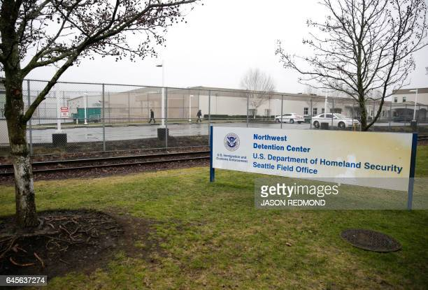The US Department of Homeland Security Northwest Detention Center is pictured in Tacoma Washington on February 26 2017 / AFP / Jason Redmond