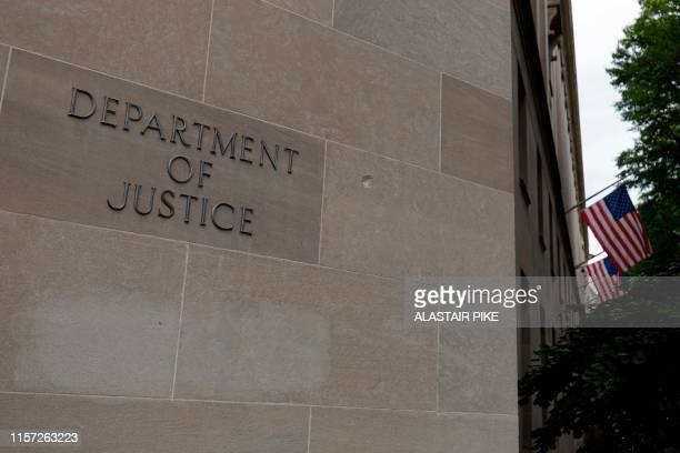 The US Department of Justice building is seen in Washington DC on July 22 2019