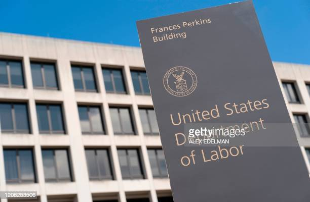 The US Department of Labor Building on March 26 in Washington DC The economic shutdown caused by the coronavirus pandemic sparked an explosion of...