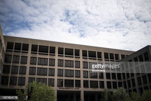 The US Department of Labor headquarters stands in Washington DC US on Wednesday March 18 2020 Treasury Secretary Steven Mnuchin raised the...