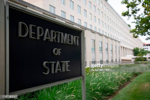 The US Department of State building is seen in Washington, DC, on July 22, 2019.