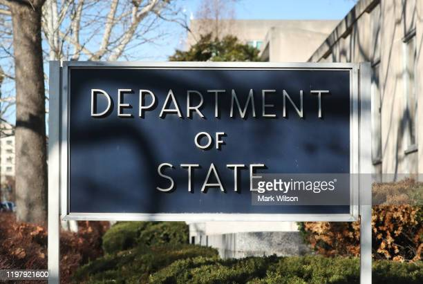 The US Department of State is seenon January 6 2020 in Washington DC Tensions are high in the middleeast after a US air strike in Iraq killed Qassem...