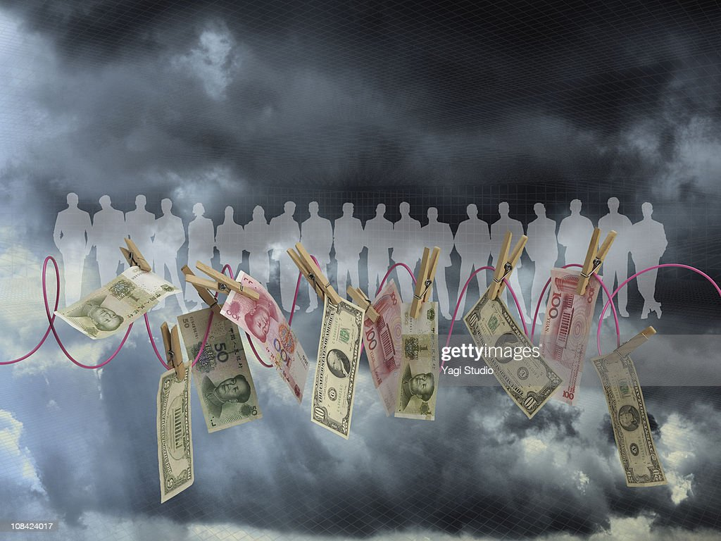 The U.S. dollar that it is tempted by a person's s : Stock Photo