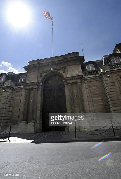 The US embassy in Paris is pictured on July 30, 2010 after two male staff members were taken for medical check-ups after receiving a suspect letter....