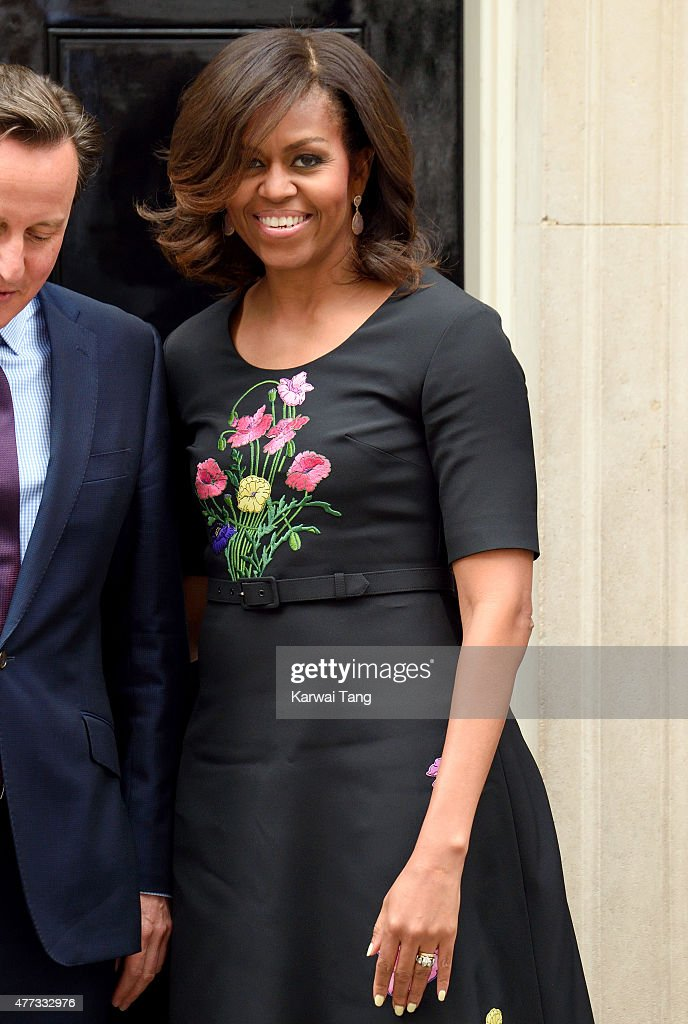 The US First Lady Michelle Obama visits 10 Downing Street on June 16, 2015 in London, England.
