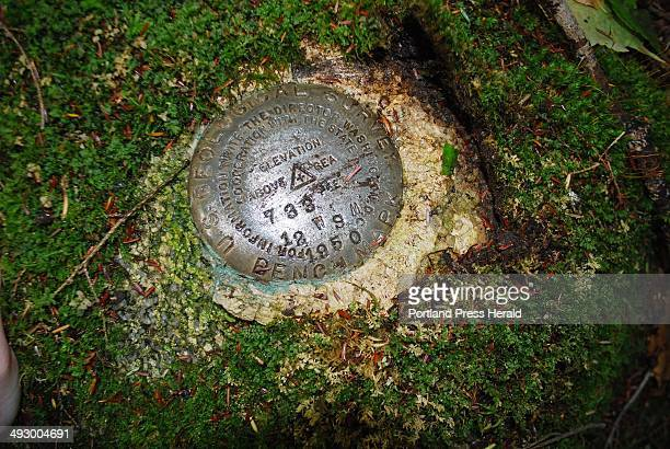 The US Geological Survey mark was placed in the Crawford Pond section of the 100 Mile Wilderness in 1950 just 17 years after the Appalachian Trail...