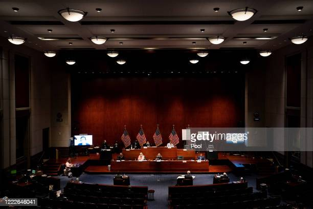 The US House Judiciary Committee holds a hearing on at the Capitol Building June 24 2020 in Washington DC Democrats are highlighting what they say is...