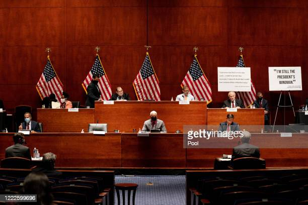 The US House Judiciary Committee meets on June 24 2020 in Washington DC Democrats are highlighting what they say is the improper politicization of...