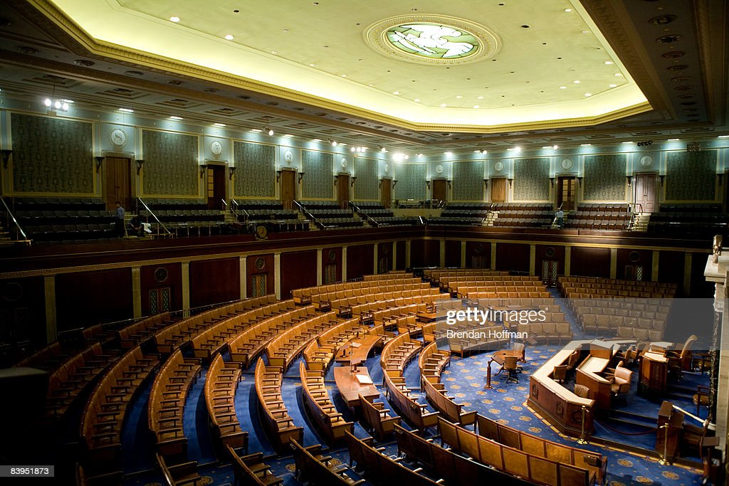 The U.S. House of Representatives chamber is seen December 8, 2008 in Washington, DC. Members of the media were allowed access to film and photograph the room for the first time in six years.