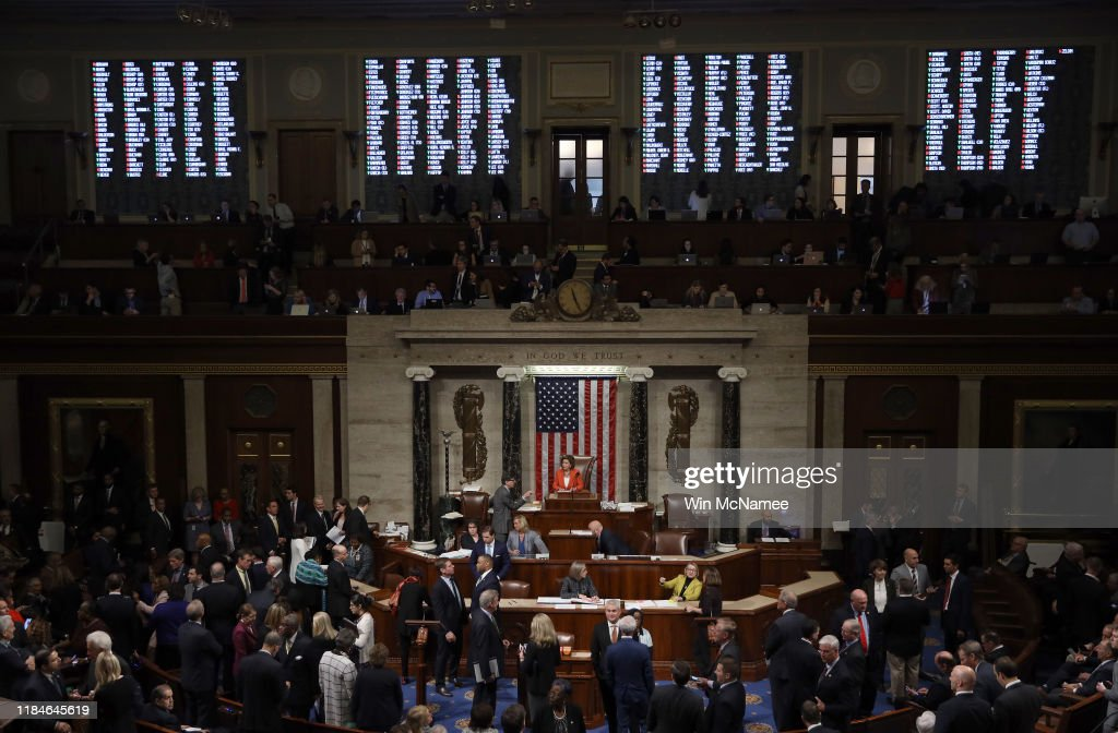 House Votes To Formalize Impeachment Inquiry : News Photo