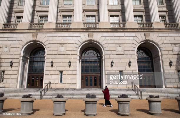The US Internal Revenue Service building is seen on the first work day for furloughed federal workers following a 35-day partial government shutdown...