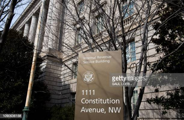 The US Internal Revenue Service is seen on the first work day for furloughed federal workers following a 35day partial government shutdown in...