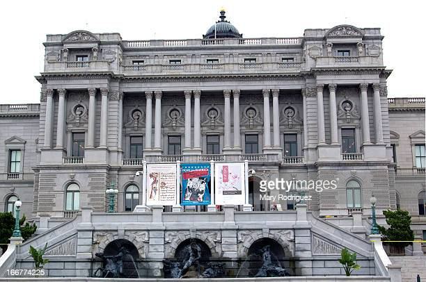 The U.S. Library of Congress building sits across the street on the east side of the US Capitol. It exhibits elaborate and beautiful architecture.