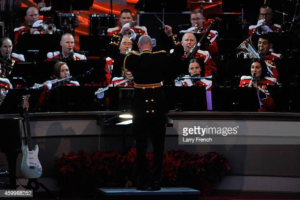 The US Marine Band performs at the National Park Foundation and Google's 'Made with Code' National Christmas Tree Lightening Ceremony on December 4...