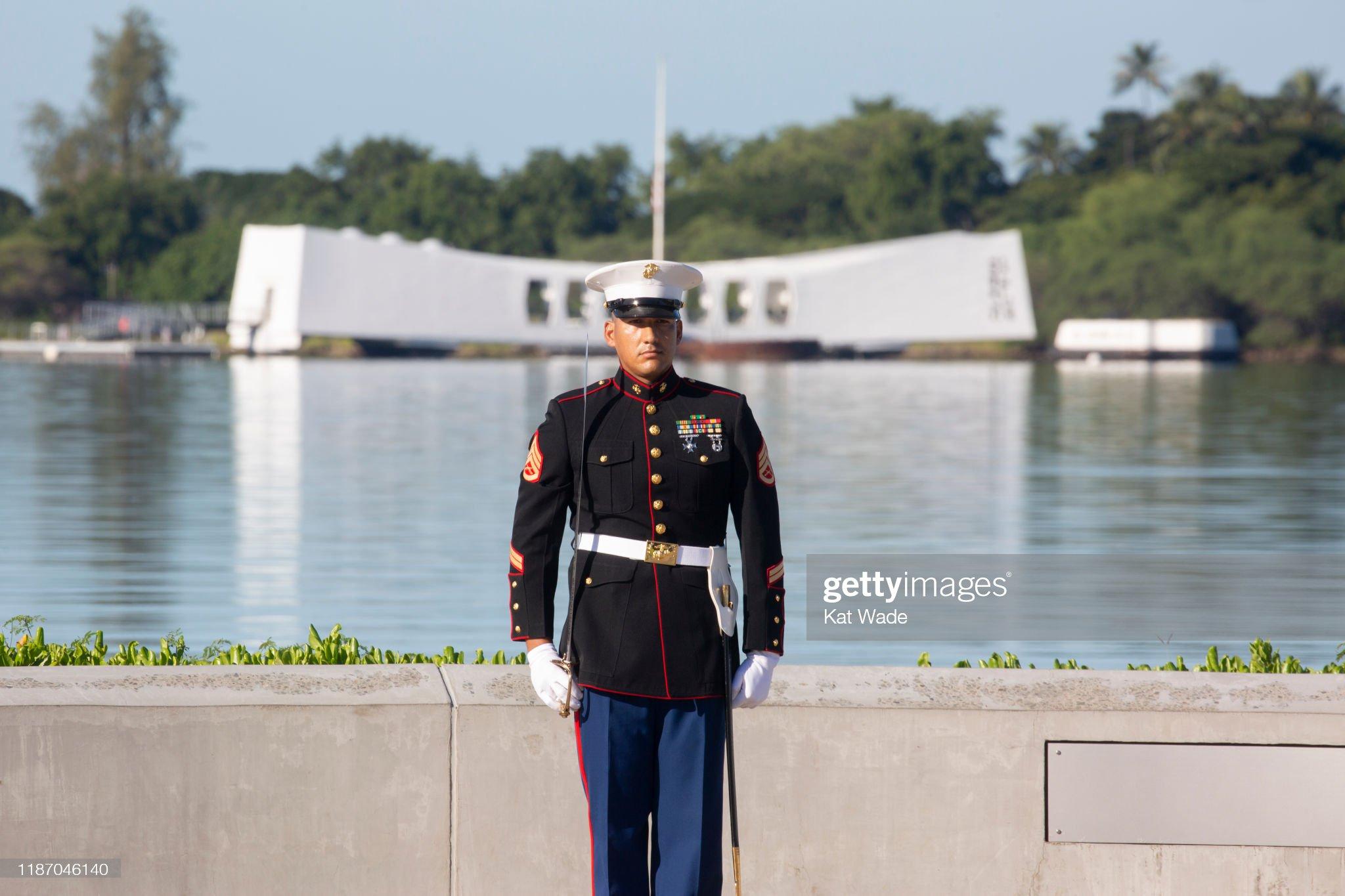 Pearl Harbor Commemorates 78th Anniversary Of World War II Attacks : News Photo