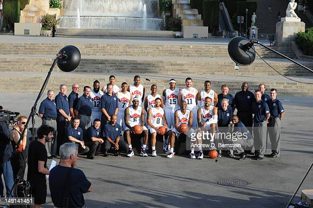 The US Men's Senior National Team poses for a photo in front of the hill of Montjuic on July 20 2012 in Barcelona Spain NOTE TO USER User expressly...