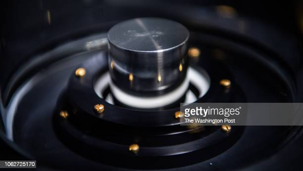 The US national kilogram that was made in 1879 is photographed at the National Institute of Standards and Technology on Tuesday November 13 in...
