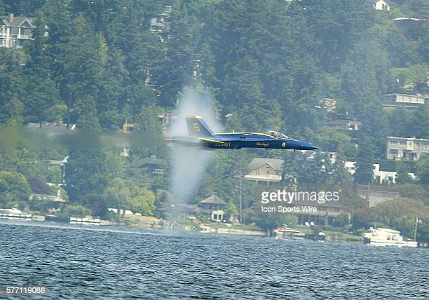 The US Navy Blue Angels entertained the crowd at this years Seafair Chevrolet Cup Key Bank Air show