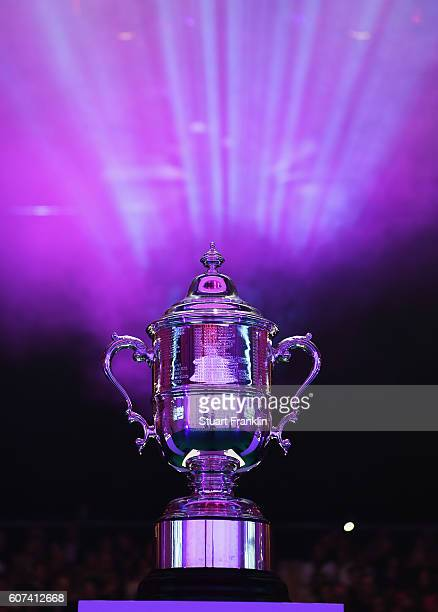 The US Open trophy at the Rolex Annika Major Awards after the third round of The Evian Championship on September 17 2016 in EvianlesBains France