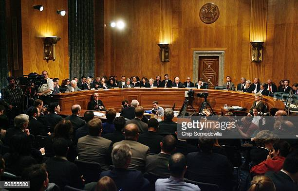 The US Senate Committee on Homeland Security and Governmental Affairs hears testimony from Department of Homeland Security Secretary Michael Chertoff...