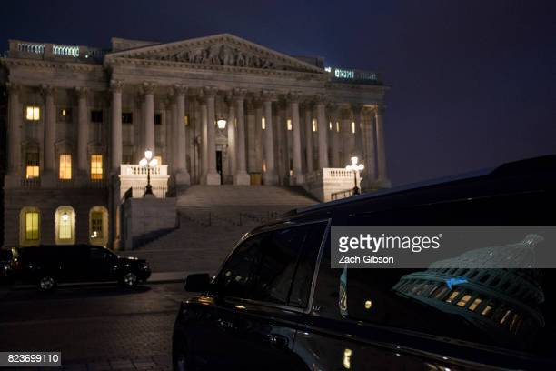 The US Senate is pictured on July 27 2017 in Washington DC Senate Republicans are working to pass a strippeddown or 'skinny repeal' version of...