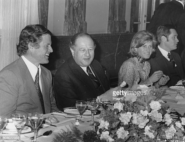 The US Senator Edward Kennedy at the Hotel Imperial with Austrian Chancellor Bruno Kreisky his wife Joan Kennedy and finance Minister Hannes Androsch...