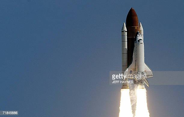 The US space shuttle Atlantis lifts off from launch pad 39-B, 09 September 2006, at the Kennedy Space Center in Florida. The STS-115 mission marks...