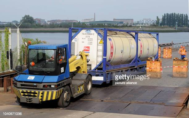 The US specialized ship 'Cape Ray' carrying Syrian poison gas containers is moored at Neustaedter Hafen Bremen Germany 4 September 2014 The ship had...