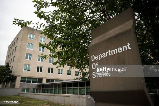 The US State Department headquarters stands in Washington DC US on Thursday Oct 3 2019 Aides to Secretary of State Michael Pompeo cautioned against...
