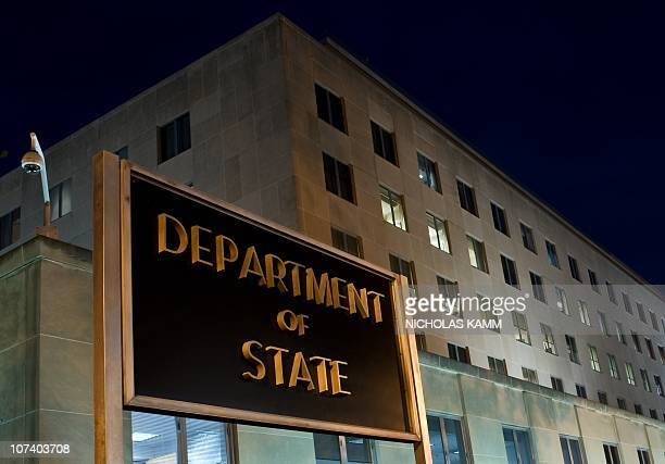 The US State Department is seen on November 29 2010 in Washington DC Top US diplomat Hillary Clinton accused WikiLeaks of an attack on the world as...