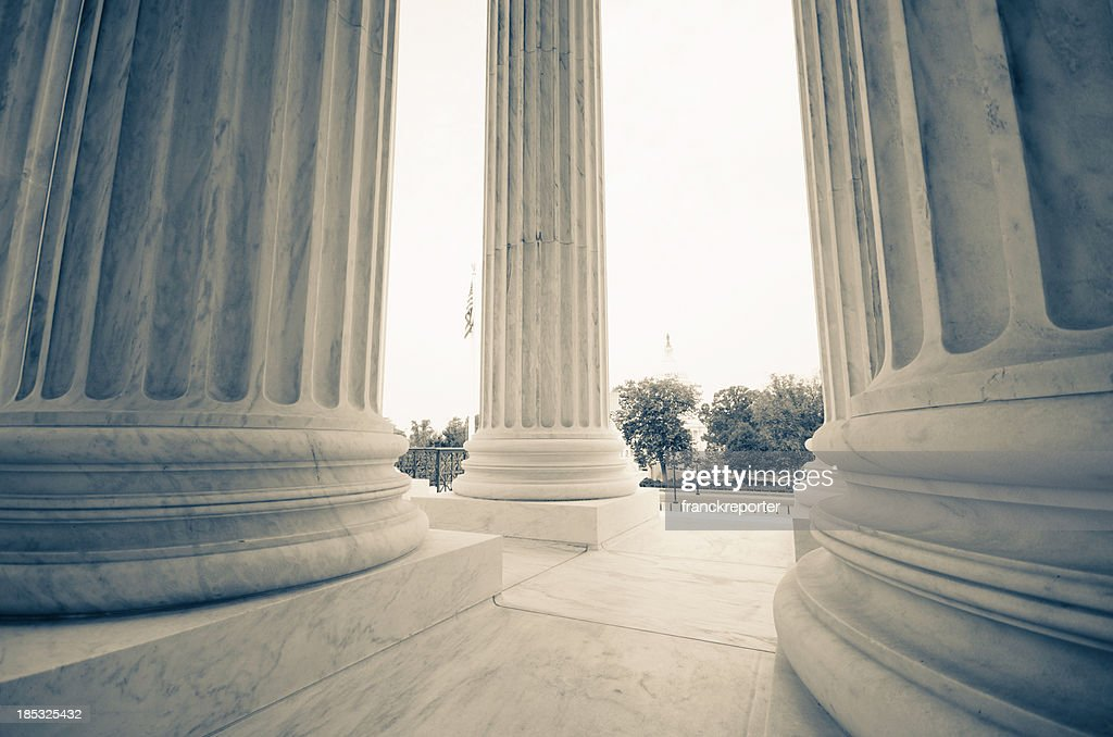 The US Supreme Court and Capitol Building - Washington DC : Stock Photo