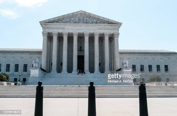 The U.S. Supreme Court building is seen on June 25, 2020 in Washington, DC. The Supreme Court is expected to issue a ruling on abortion rights soon.