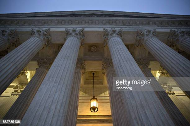 The US Supreme Court building stands in Washington DC US on Friday April 7 2017 Judge Neil Gorsuch is poised to win an intensely political...