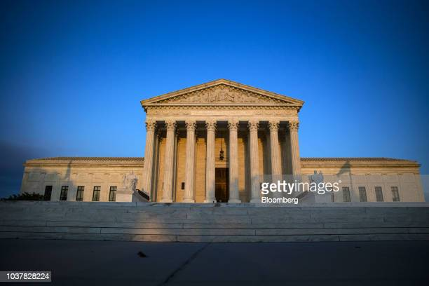 The US Supreme Court building stands in Washington DC US on Friday Sept 21 2018 Christine Blasey Ford the woman who's accused Supreme Court...