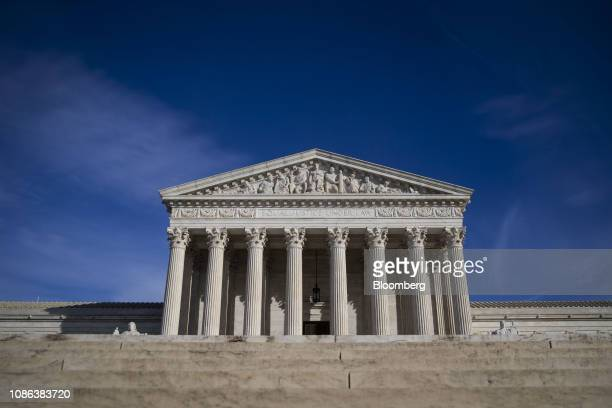 The US Supreme Court building stands in Washington DC US on Tuesday Jan 22 2019 A divided US Supreme Court cleared PresidentDonald Trump's...