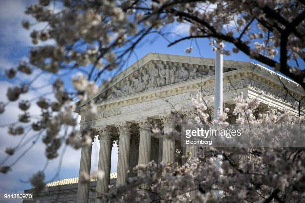The US Supreme Court building stands on Capitol Hill in Washington DC US on Tuesday April 10 2018 Senators pressedFacebook Inc founder Mark...