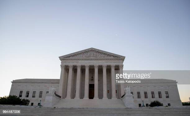 The US Supreme Court building stands on July 9 2018 in Washington DC President Donald Trump is set to announce his next Supreme Court nomination this...