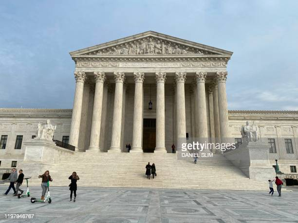 The US Supreme Court is pictured on February 1 2020 in Washington DC