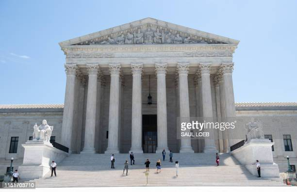 The US Supreme Court is seen in Washington DC June 24 2019 The US Supreme Court ruled in favor of the clothing brand FUCT in a free speech case on...