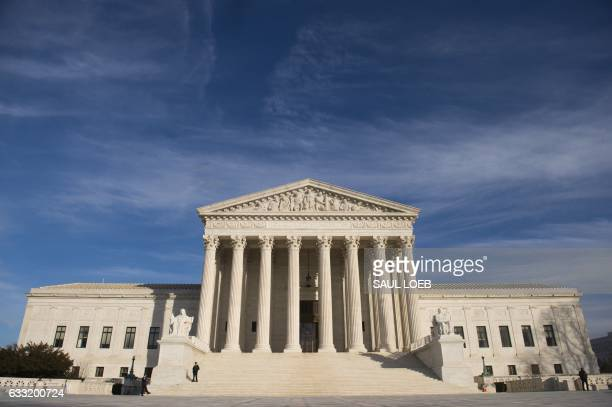 The US Supreme Court is seen in Washington DC on January 31 2017 President Donald Trump was poised Tuesday to unveil his pick for the US Supreme...