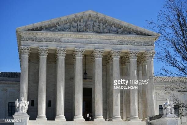 The US Supreme Court is seen in Washington DC on March 27 2019