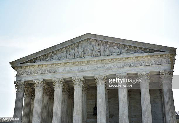 The US Supreme Court is seen on June 27 2016 in Washington DC The US Supreme Court on Monday struck down a Texas law placing a raft of restrictions...