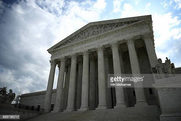 The US Supreme Court is shown as the court meets to issue decisions May 23 2016 in Washington DC The court today sided in a 71 decision written by...